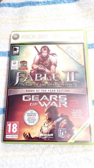 xbox 360 Fable ii y Gears of war 2