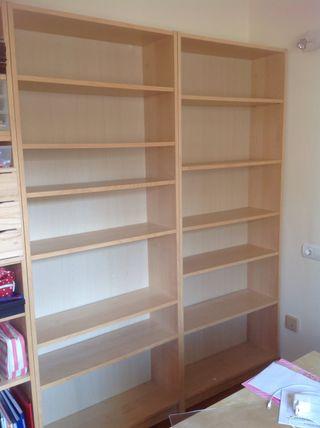 2 estanterías Billy de Ikea