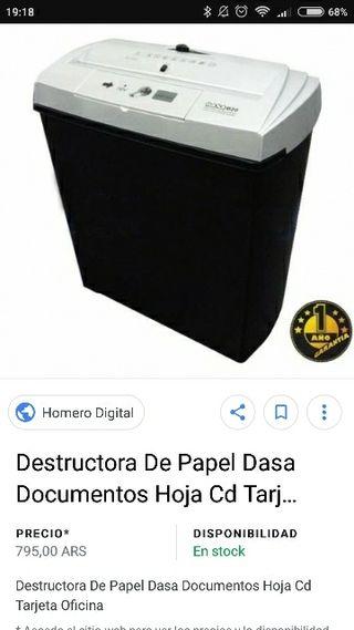 destructor papel y dvd