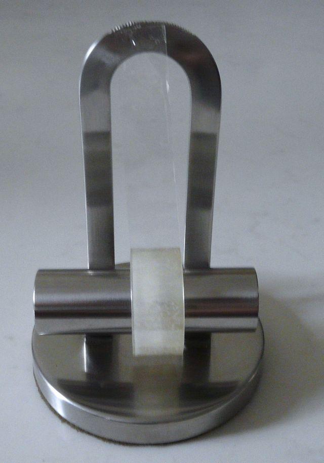 Devidoir ruban adhesif design acier - socle lourd
