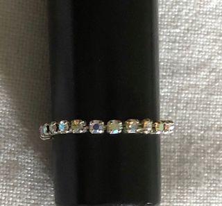 Bague anneau zircon élastique taille minimum 52