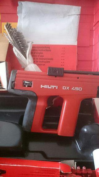 Herramienta se fijacion.directa HILTI.DX 450 con
