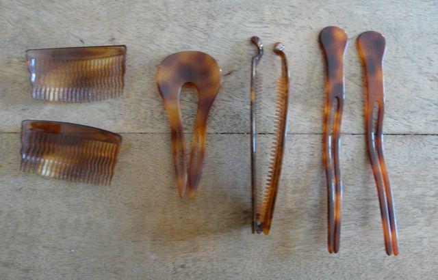 Peignes et pique et barrette imitation écaille