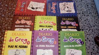 Lote 8 libros Diario de Greg