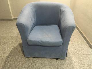 Sillon individual azul