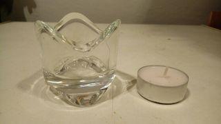 jarras cristal,portavelas y velas
