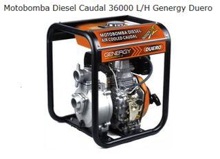 MOTOBOMBA DIESEL GENERGY 36000L/H