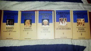 Lote 5 libros de Christian Jacq