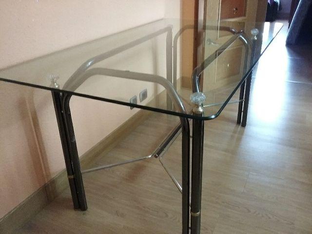 Mesa comedor vidrio de segunda mano por 70 € en Bilbao - wallapop