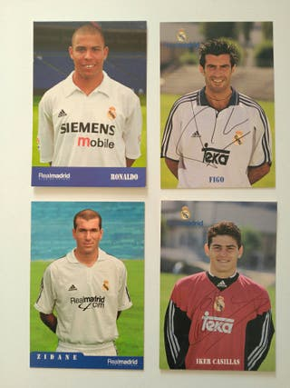 Postales fotos jugadores Real Madrid +regalo