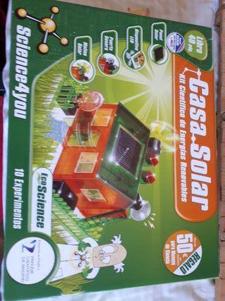juguete casa solar