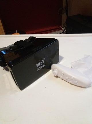 gafas realidad virtual + mando para jugar