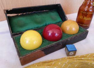 Bolas de billar. Antiguas. Años 60. Set de 3 bolas