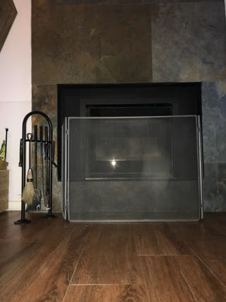 Protector fuego chimenea