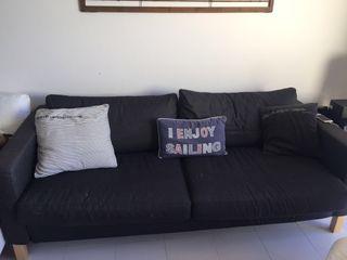 Sofa azul oscuro 3 plazas