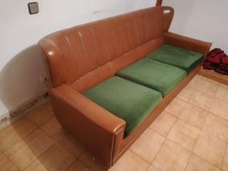 sillones de cuero marron