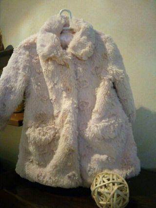 abrigo de pelo rosa
