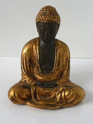 Statuette de Bouddha dorée en Plâtre