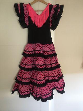 Vestido flamenca gitana.