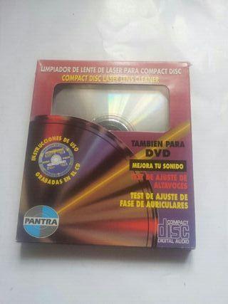 Limpiadora limpiador lente laser cd dvd