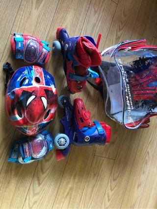 Patines infantiles Spiderman