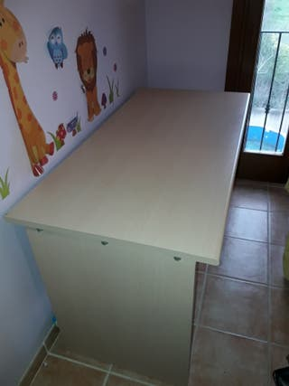Mesa despacho color madera haya
