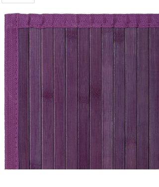 Alfombra violeta bambú 2x1,20m