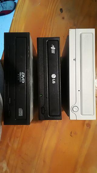 Grabadora y reproductor de CD y DVD para ordenador