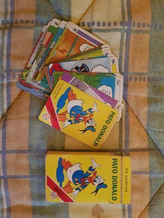 Baraja cartas Pato Donald 1984