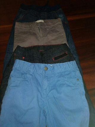 Lote de pantalones niño 5-6