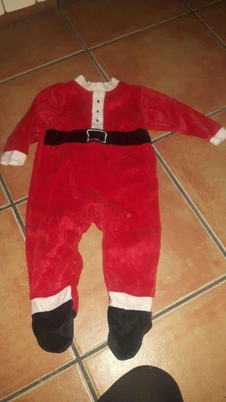 disfraz papá Noel niño 12 meses