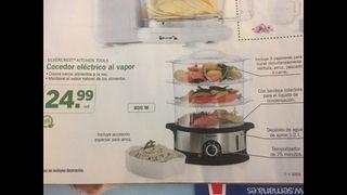 Cocedor electrico de vapor