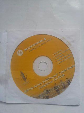 Cd instalación modem internet Motorola