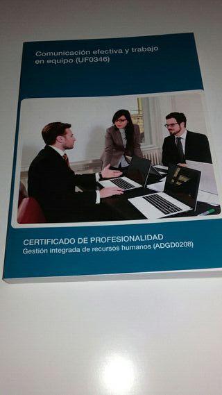 libros certificado de profesionalidad de RRHH