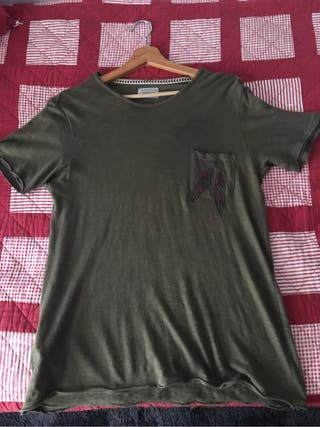 Camiseta Mango Men verde