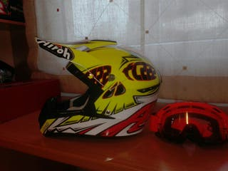 casco motocross airoh y gafas fox