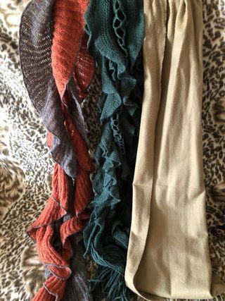 bufandas varias