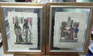 2 cuadros de papiro