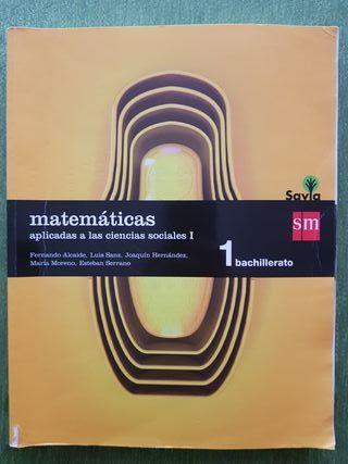 Libro de Matemáticas CC.SS. 1°Bachillerato de SM.