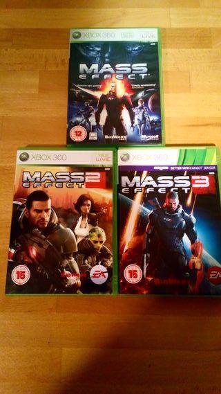 Mass Effect 1-2-3 xbox one y 360