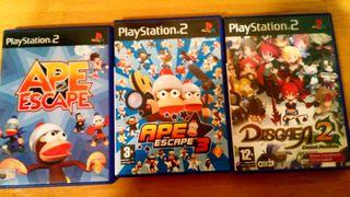 Ape scape 1-3 y disgaea 2 ps2