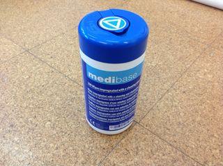 Toallitas para desinfectar el material de trabajo
