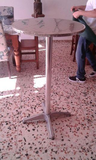 mesa alta bar acero