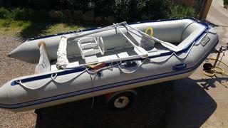 barca neumatica + remolque