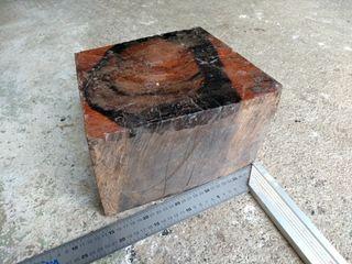 Gran pieza de ébano exotico, 25x20x15cm aprox