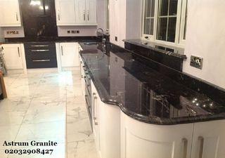 Buy Agatha Black Granite Kitchen Worktop in London
