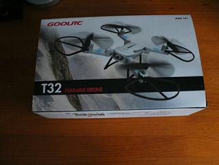 Mini drone con mando y cámara