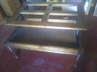 Mesa salon centro elebable madera maciza 1'10 x 70