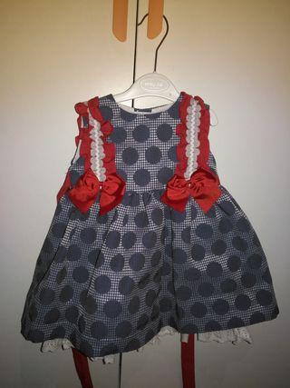 vestido baja costura talla3 con tocado pelo a jueg