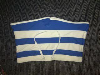 Bañador hombre talla L/XL blanco y azul
